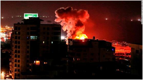 加沙地区局势紧张 以色列和哈马斯再次发生交火