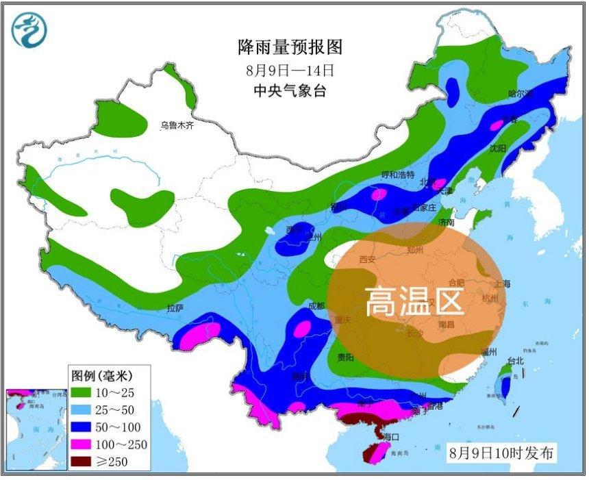 未来数日北方、华南降雨多 黄淮、江淮高烧不退