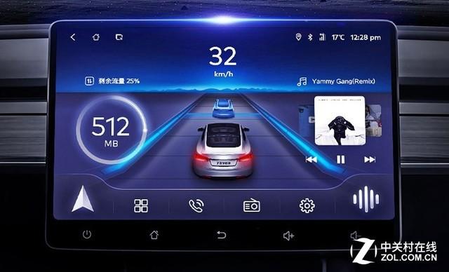 MAXCC车机全新的UI设计 MAXCC车机采用10.2英寸G+G(超清钢化玻璃电容屏)大屏,分辨率达1024x600,屏幕硬度高、耐腐蚀;内置的高通骁龙4G通讯芯片,是即时通讯良好稳定的保障;全新的语音声控3.0更加智能,能完成导航、音乐、lbs兴趣点等多领域的控制,解放驾驶员双手实现平稳驾驶。