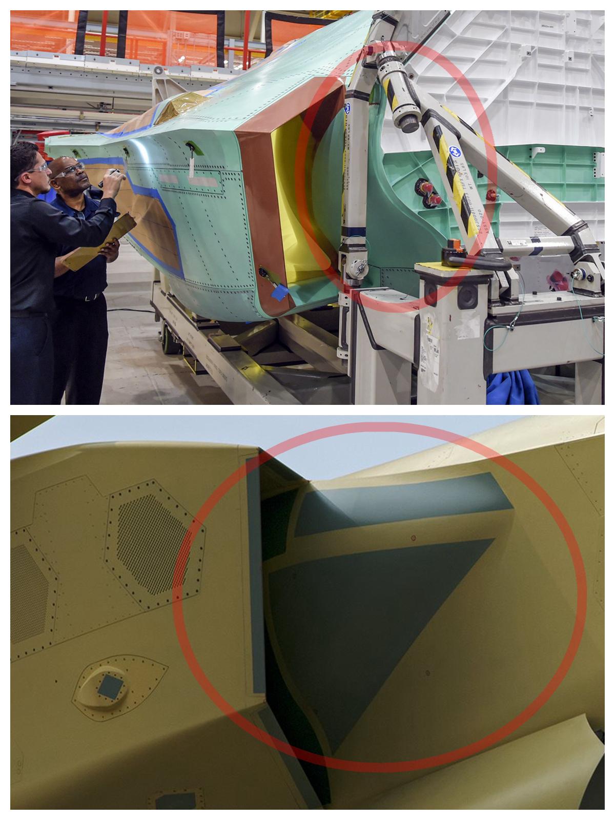 歼20隐身细节曝光 工艺水平超苏57与F22相当
