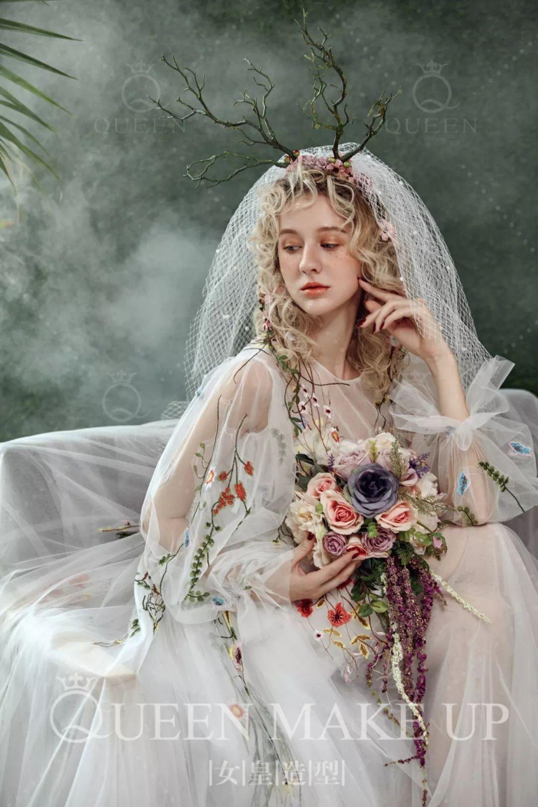 欧式新娘造型 带你淡淡地怀旧