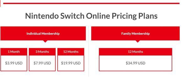 任天堂Switch联网会员服务将于9月下旬正式上线