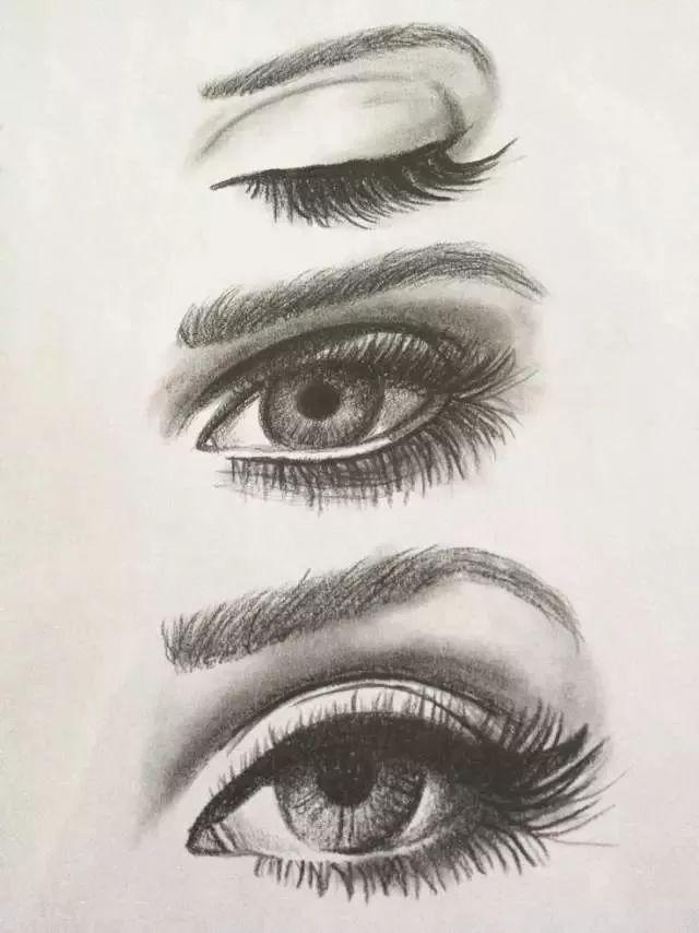 眼睛素描 画法 步骤 图解