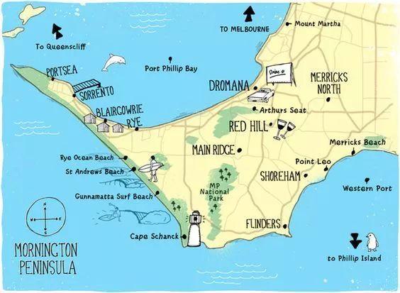 莫宁顿半岛三面环海,在其悠长的海岸线上,分布着大大小小的幽静海湾