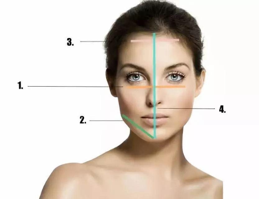 用卷尺测量以下节点长度: 1,颧骨宽度—两颊凸起最高点之间的距离.图片