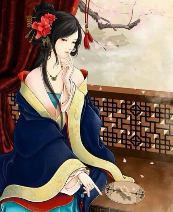 """古风手绘画:""""画中人""""活色生香,美丽动人的古典美女!"""