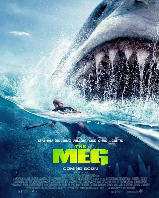 《巨齿鲨》上映暑期荧幕,如果出动核潜艇,几招能够搞定史前海兽