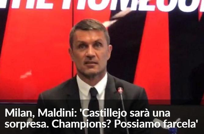 马尔蒂尼:米兰能拿到欧冠资格,卡斯蒂列霍是惊喜