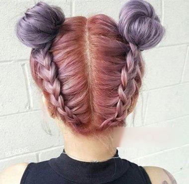 夏季最具凉爽的双丸子头扎发,轻松呈现出你意想不到