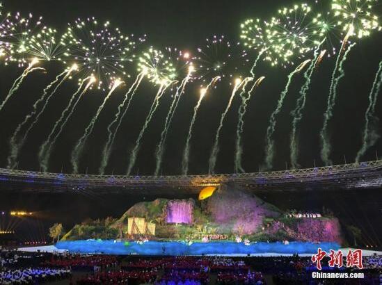 雅加达亚运会开幕式:千岛之国的万种风情