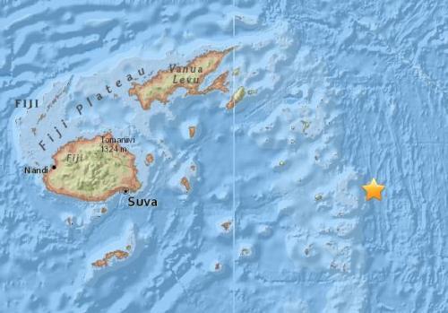 斐济以东海域发生7.9级地震 震源深度570公里