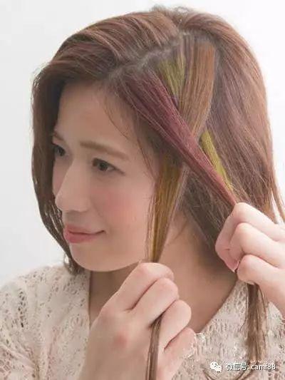短发辫子图片步骤