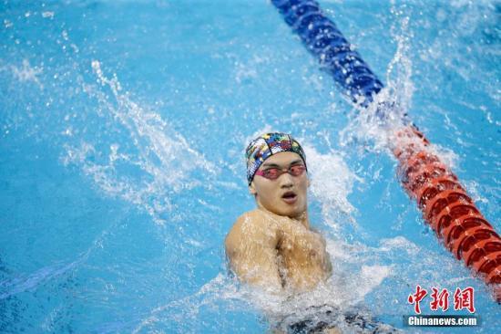 中国国家游泳队队员徐嘉余。 <a target='_blank' href='http://www.chinanews.com/'>中新社</a>记者 韩海丹 摄