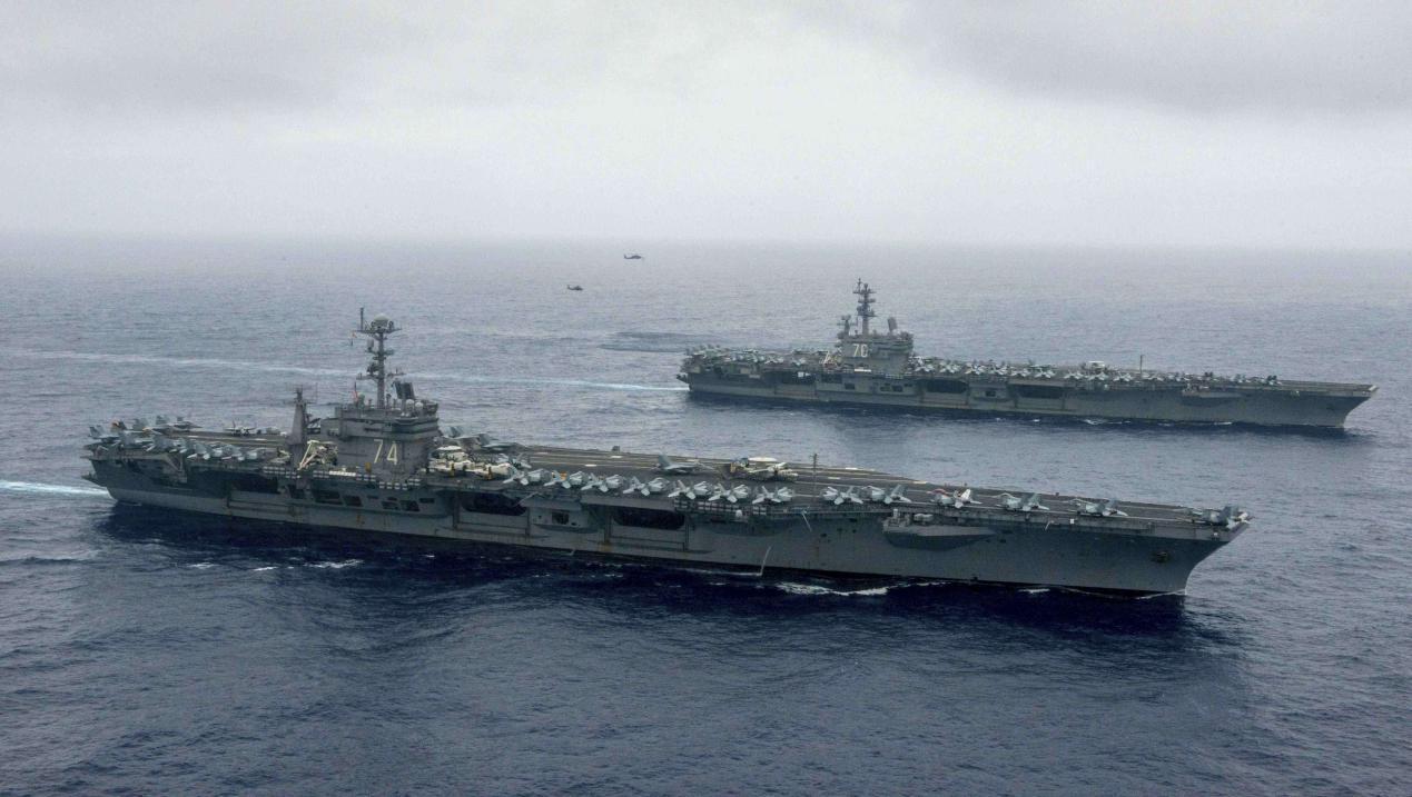 美国3航母编队