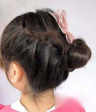 2款儿童日常长发盘发发型图解!