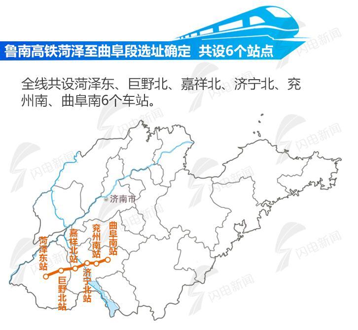 雄商高铁也将在聊城菏泽设站