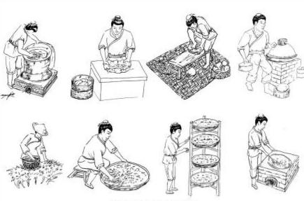 揉捻或揉切,发酵,烘烤等工序制成成品茶;再加工制成滇红功夫茶,又经揉图片