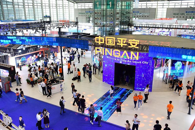 图源@视觉中国,中国平安参展2018(第四届)中国智慧城市国际博览会