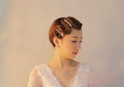 新娘复古风短发发型