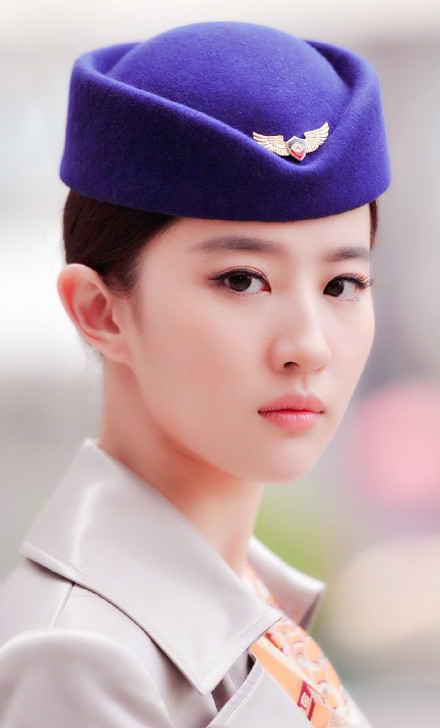 女明星们的空姐造型,哪一位最性感?杨幂还是刘亦菲?
