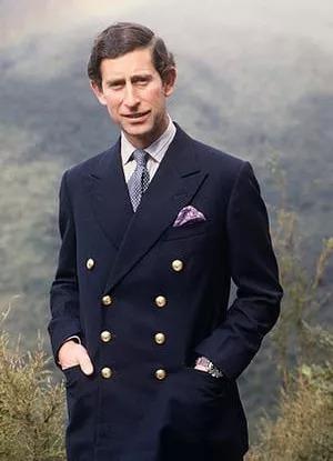 """查尔斯王子就是双排扣西装""""达人""""."""