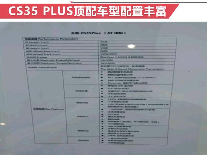 不止加长那么简单 CS35 PLUS顶配多少钱你会买?-图3