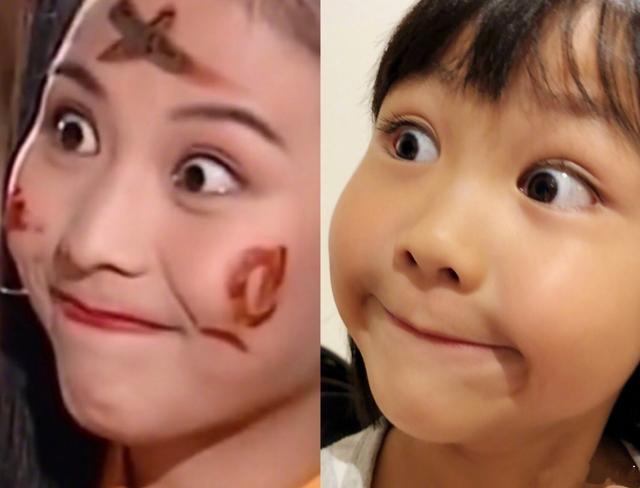 太像了!蔡少芬晒女儿图片与自己的同款表情字两个包表情帅哥带图片