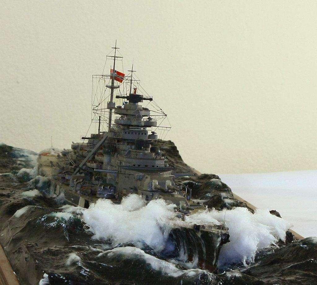6发炮弹打进俾斯麦号主防御区的 个个直命要害