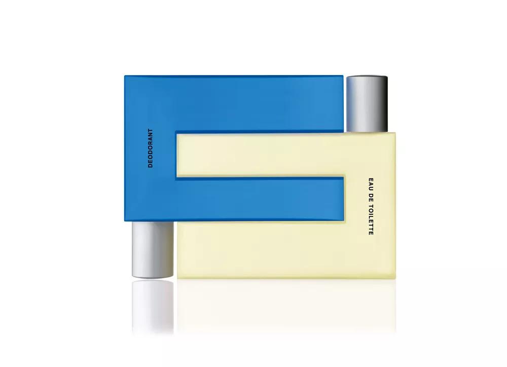 pour hommes 2 in 1 这两款香水瓶把几何美学发挥到了极致,它们既