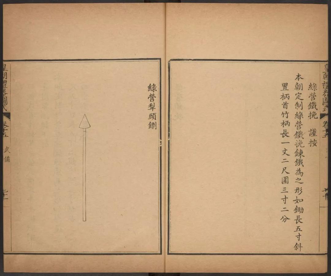 ▲皇朝礼器图式清代标枪