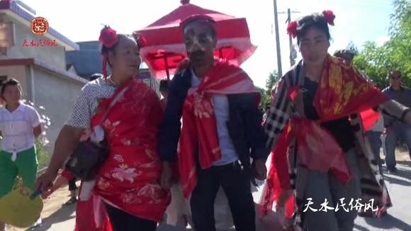 「天水民俗风」天水市秦州汪川阳坡娶了个漂亮新娘把一家人乐坏了