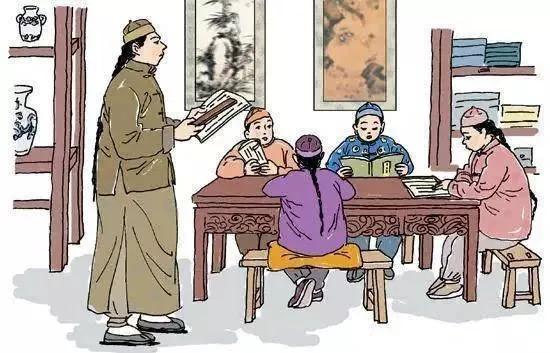 古代书童矢量图片