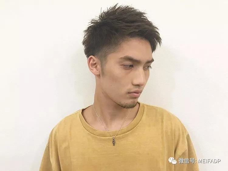 日式雅痞式风格男士发型