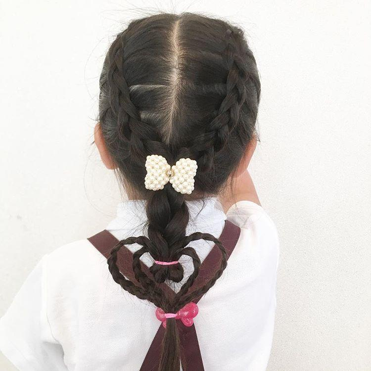 长发女生的不同编发发型,可爱又甜美