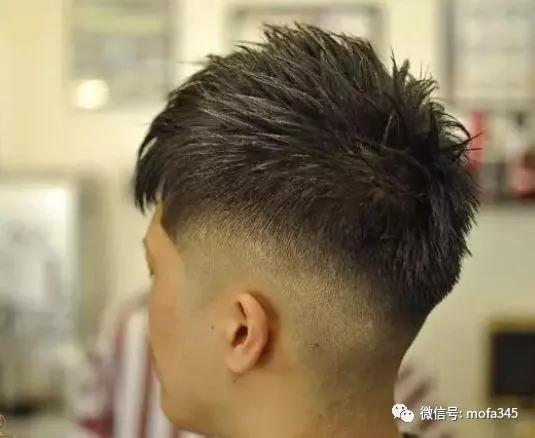 中年男士发型二八分两边铲短一道杠图片