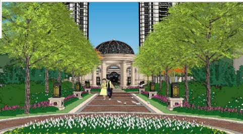在景观设计手法上构图了方式感的运用景观轴线感的树阵,序列水钵,模家具设计鲁班奖图片