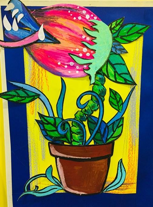 木马创意美术儿童画,手工,少儿创意美术创意美术综合类作品欣赏