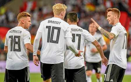 热身赛:布兰特舒尔茨破门,德国2