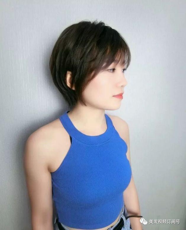 谢楠的这款标志性短发,瓜子脸的妹子谁剪谁好看!图片