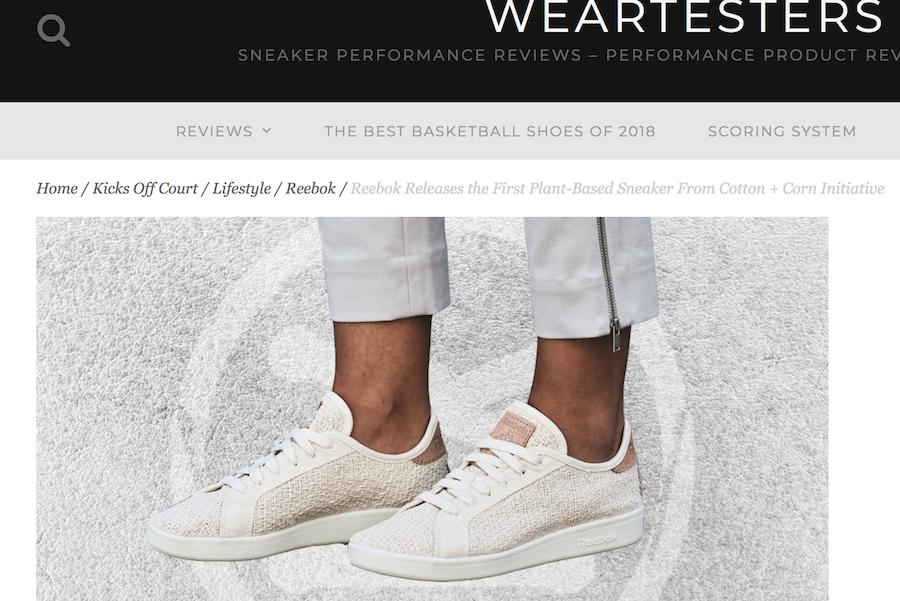 """锐步推出环保运动鞋:75%的原料来自""""棉花玉米和蓖麻籽油"""