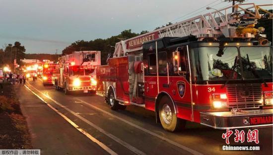 """当地时间9月13日晚,美国马萨诸塞州波士顿附近的几个社区发生了""""疑似天然气管道泄漏""""事件。据外媒报道称,当地已有至少39处出现了起火和爆炸的情况,这一数字可能会继续增长。目前尚无法得知伤亡情况。"""
