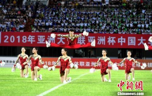 资料图:中国大学生足球赛。吕明摄