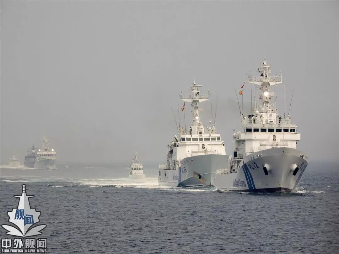 日本媒体曝光海保巡逻钓鱼岛画面