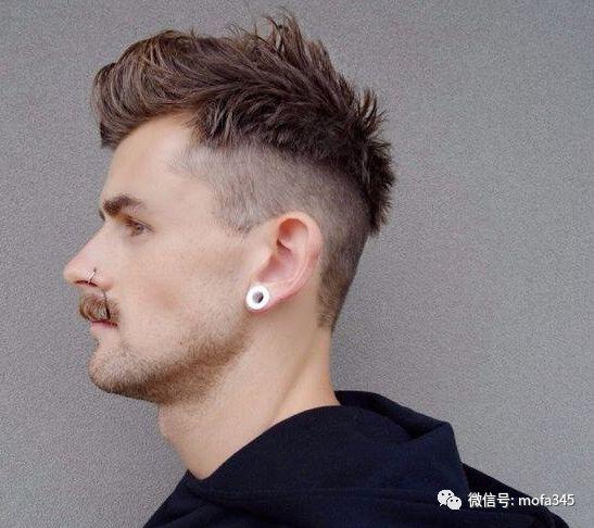 清爽酷帅发型就要两边铲短,就是这么帅气!图片