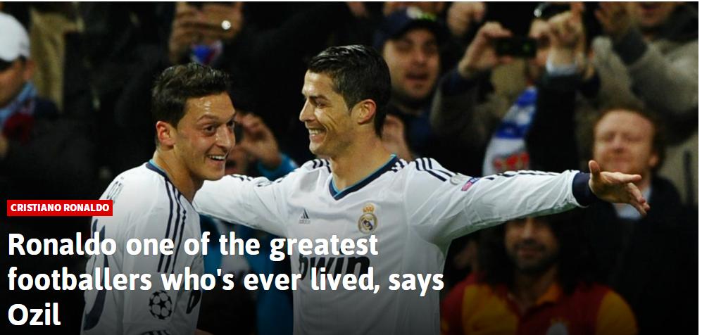 阿森纳中场盛赞C罗:世界最佳球员之一 和他踢球很享受