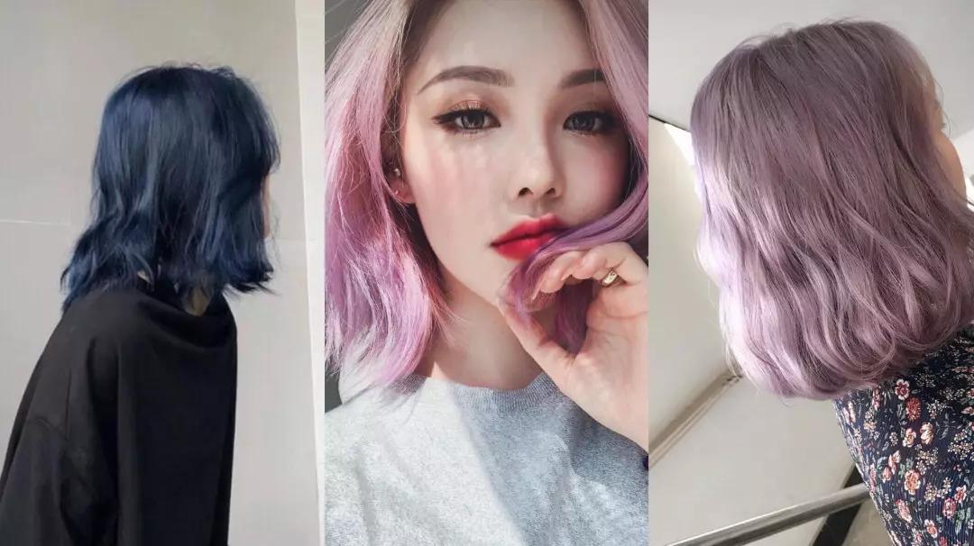头发颜色2018流行色_有色差而且不持久,有时刚染完头发不出半个月,颜色就掉了大半.