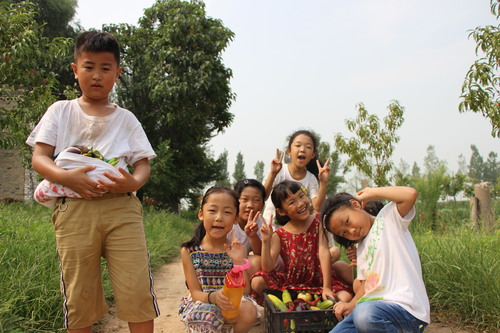 带领孩子们在山西永济蒲韩社区体验城乡融合