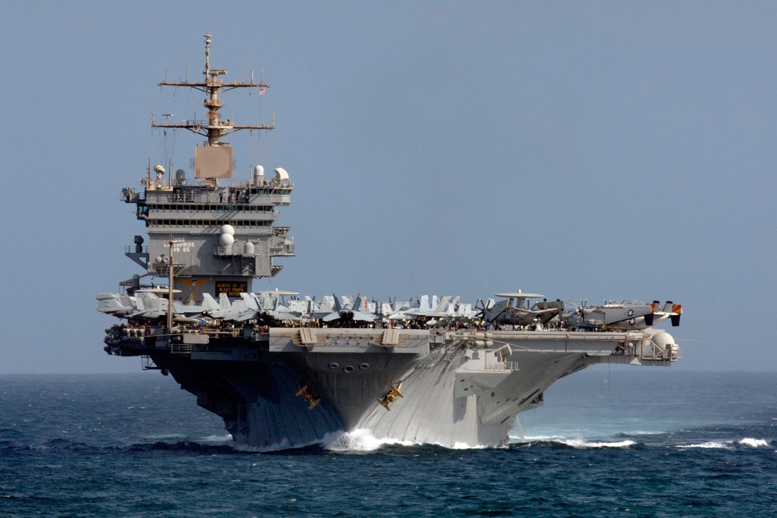 """美海军犯了愁:""""企业""""号航母花钱又耗时不知怎么处理"""