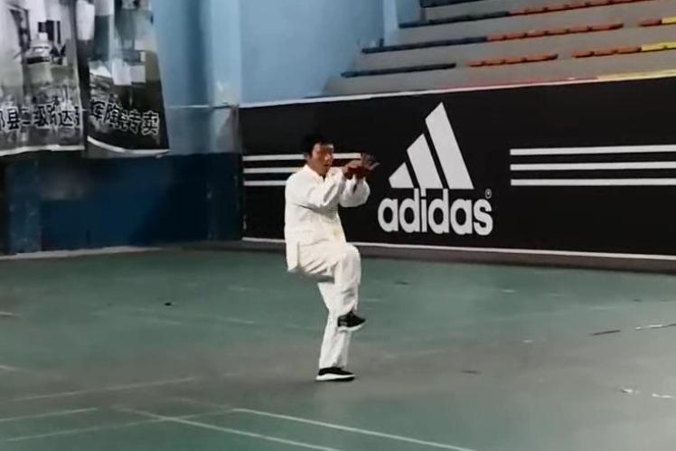 视频:祁县戴氏心意拳传人在体育馆演练的心意拳十大形