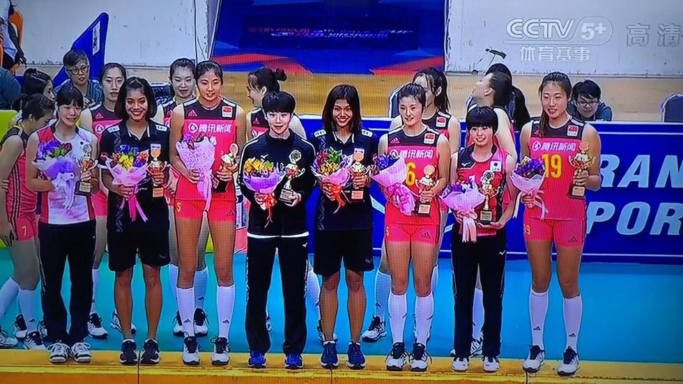 喜出望外!中国女排二队勇夺亚洲杯冠军,刘晏含荣膺MVP